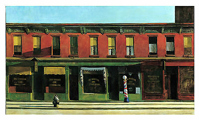 £14.95 • Buy HUGE 20X40 INCH Edward Hopper Early Sunday Morning REPRODUCTION CANVAS PRINT