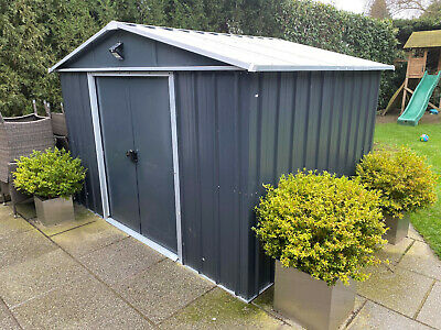 10' X 8' Yardmaster Castleton Anthracite Metal Shed With Floor Support Kit & Ply • 350£