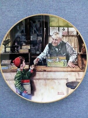 $ CDN7.89 • Buy Norman Rockwell - Back To School - 1990 Collector Plate