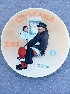 $ CDN7.89 • Buy Norman Rockwell - Santa In The Subway - 1983 Christmas Collector Plate