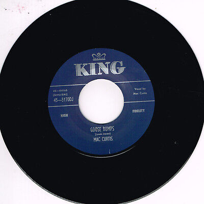 MAC CURTIS - GOOSE BUMPS / WHAT YOU WANT (Hot 1950s ROCKABILLY) (New Repro) • 10.99£