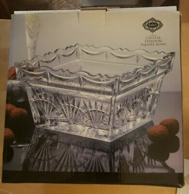 $22.99 • Buy Shannon Crystal Square Bowl Gorgeous   Freedom Pattern   Excellent Condition