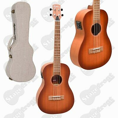 AU279 • Buy Martinez Baritone Ukulele Solid Mahogany Top Acoustic Electric With Hard Case