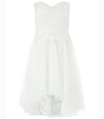 Monsoon Girls CAMILLE High Low Dress - IVORY Size 12-13 Years • 32.50£