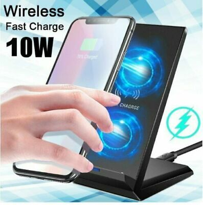AU19.09 • Buy QI Portable Cordless Wireless Charger Stand Dock For IPhone 11 X XR Samsung S20