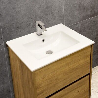 Thin-Edge Ceramic 61cm Inset Basin With Scooped Bowl • 51.99£