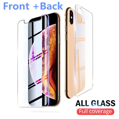 AU2.66 • Buy Front +Back Full Body Tempered Glass Screen Protector For IPhone 11 7 XR 8 6S 5S