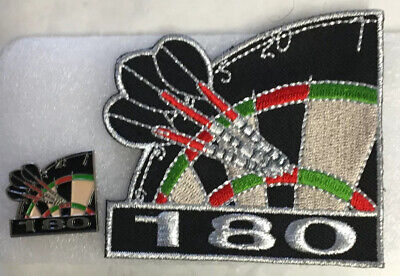 DARTS 180  NEW PIN Badge And PATCH Set Only £5 For The Two!! • 5£