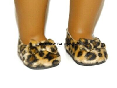 Leopard Print Slip On Shoes 18 In Doll Clothes Fit American Girl • 3.47£