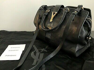 AU1049.99 • Buy AUTHENTIC YSL SMALL PYTHON TRIM ChYc CABAS BAG WITH STRAP RRP $3950 AUD
