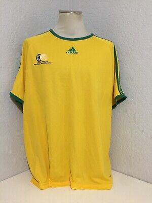 $14.99 • Buy MEN'S Adidas South Africa FOOTBALL SOCCER SHIRT JERSEY SZ 2XL Yellow/Green