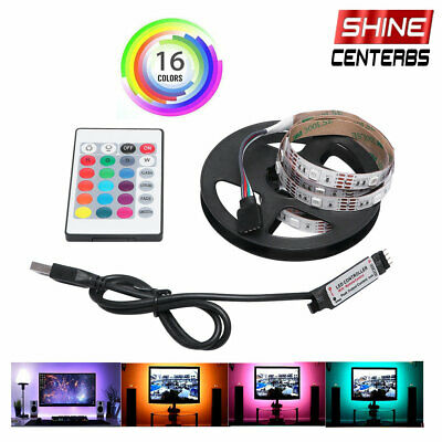$9.89 • Buy 1/2M RGB LED Light Strip Bar TV Room Background Computer Decor USB Remote Contro