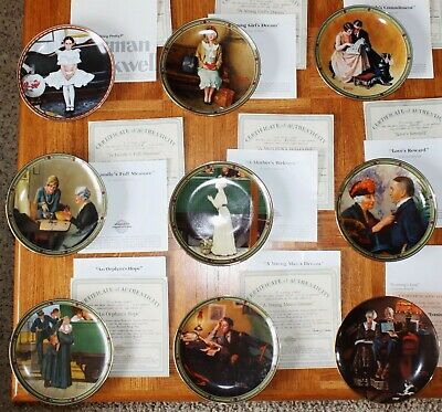 $ CDN133.33 • Buy 9 Lot Vintage Edwin M. Knowles NORMAN ROCKWELL American Dream Collector Plates
