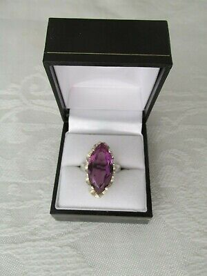 AU225 • Buy Vintage Mexican Sterling Silver And Synthetic Alexandrite Ring J-S Eagle Mark 93