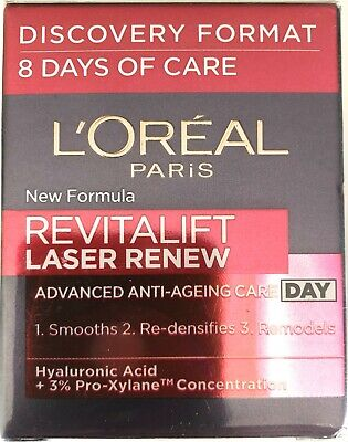 L'Oreal Revitalift Laser Renew ANTI-AGEING 8 DAYS OF CARE DAY HYALURONIC ACID • 7.49£