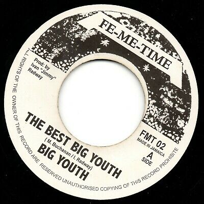 BIG YOUTH : The Best Big Youth * Reggae DJ Roots Single Record Vinyle  • 5.60£
