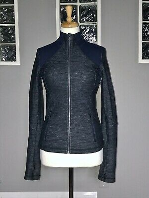 $ CDN70.40 • Buy Lululemon Forme Jacket 6 Slub Denim Inkwell Shape Define Euc