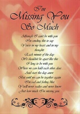 'I'm Missing You So Much' A5 Card - Love Keepsake Memories • 3.99£