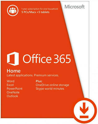 AU116 • Buy Office 365 Home Subscription 1 Year Up To 5 Users 6GQ-00093 (ESD)