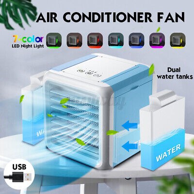 Portable Air Conditioner Fan Mini Cool Bedroom Desk Cooler Cube Water USB Silent • 27.99£