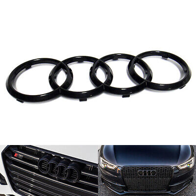 Black Gloss Front Grille Ring Logo Badge Emblem For Audi A1 A3 A4 S4 A5 273x94mm • 11.99£