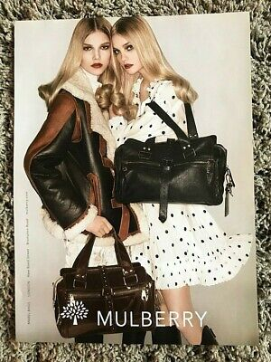 £12.99 • Buy Vintage 2007 HB ( Not Vogue ) Magazine Advert Ad Art Picture Mulberry Mabel Bag