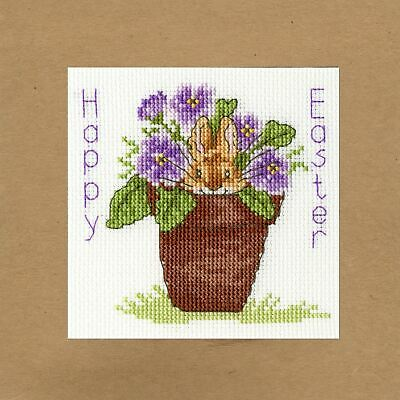 Easter Bunny Greetings Card Cross Stitch Kit By Bothy Threads • 12.62£