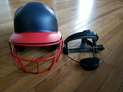 $12.99 • Buy Boombah Navy And Red Softball Helmet Bbh1 N/rd-osfm And Mask One Size Fits Most