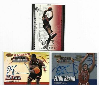 $ CDN4.99 • Buy Elton Brand Lot Of 3 Rookie 835/1550 Auto Sp Authentic Topps NrMt-Mt PSA?