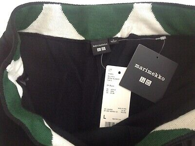 AU20.45 • Buy MARIMEKKO FOR UNIQLO BLENDED WOOL CROPPED PANTS BLACK L  NEW. Sold Out In Store