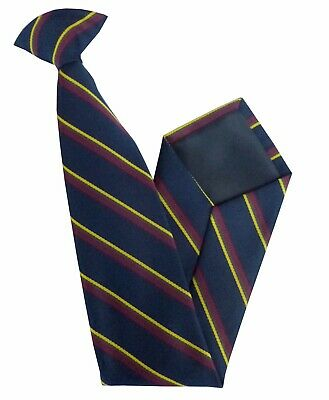 £14.99 • Buy Royal Marines Regiment Woven Striped Regimental Clip On Tie RM Made In GB