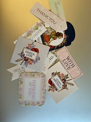 12 Mixed Sentiments/Banners Card Toppers,Birthday Bundle Cards/scrapbooking #34 • 0.01£