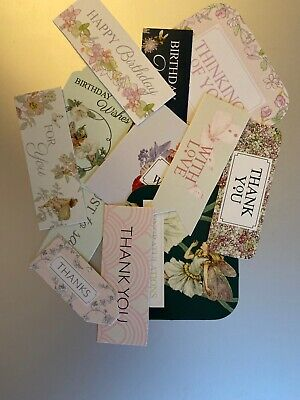 12 Mixed Sentiments/Banners Card Toppers,Birthday Bundle Cards/scrapbooking #35 • 0.01£