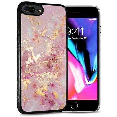 AU9.99 • Buy ( For IPhone 7 ) Back Case Cover PB12891 Pink Crystal Marble
