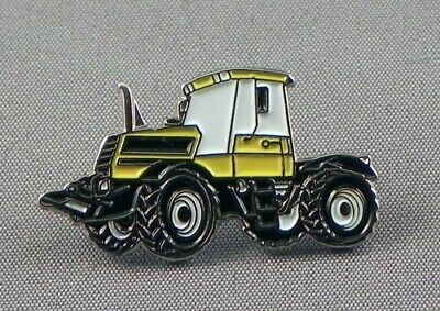Yellow Tractor Vehicle Enamel Pin Badge - New (design 1) • 3.29£