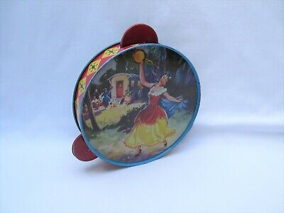 £16.50 • Buy Vintage Chad Valley Tin Toy Tambourine Percussion Instrument