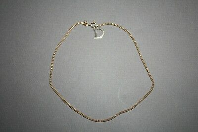 $11.23 • Buy Vintage Emmons Signed Gold Tone D Charm Chain Choker Necklace