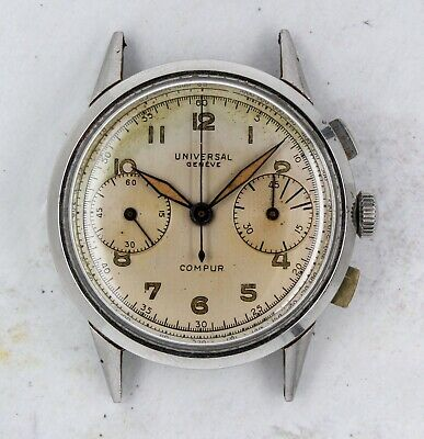 $ CDN1255.12 • Buy Vintage Universal Geneve Compur Chronograph Wristwatch 35mm Steel Ref. 22494 NR