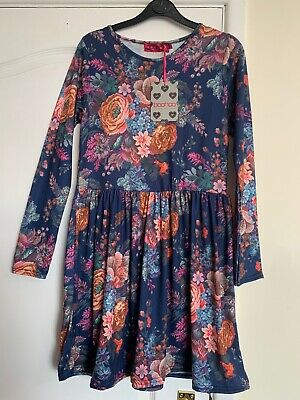 BNWT Women's Size 10 Lovely BOOHOO Floral Skater Dress • 8.50£