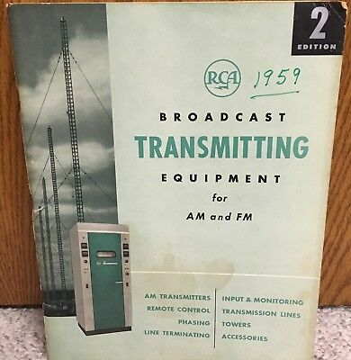 $34.99 • Buy 1959 RCA Broadcast Transmitting Equipment Catalog For AM & FM & Price Guide VG+