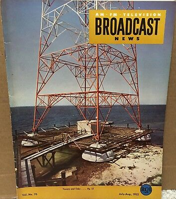 $19.99 • Buy July/August 1952 RCA Broadcast News Magazine Towers And Tides VG+