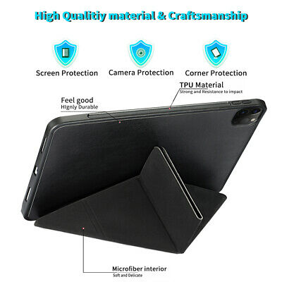 AU35.99 • Buy For IPad Pro 12.9 2020Case Stand PU Leather Tablet Cover W/ Pen Slot Durable Hot