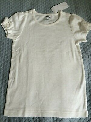 $6.99 • Buy NWT Gymboree Girls Short Sleeve Bow Vintage Bee Chic Ivory Top Size 7