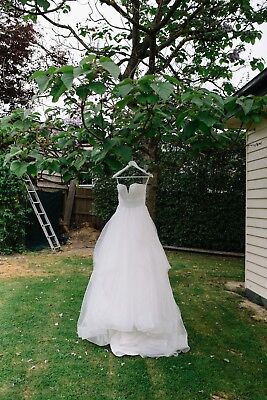 AU2100 • Buy Hayley Paige Designer Couture Ivory Strapless Wedding Dress Gown,Runway,8,$5750
