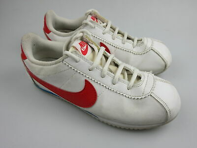 AU27.99 • Buy Boy's Girl's NIKE 'Cortez' Sz 2 US Shoes White Red VGCon | 3+ Extra 10% Off
