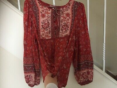 AU39 • Buy Arnhem Blouse Size 10 Red , Very Good Condition