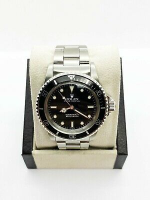 $ CDN13298.67 • Buy VINTAGE Rolex Submariner 5513 Black Dial Stainless Steel 1979 Mint Dial