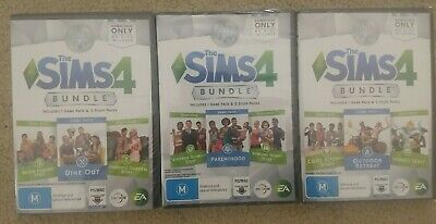 AU80 • Buy 3x The Sims 4 Bundle Packs - PC Origin - New And Sealed
