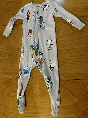 $8 • Buy Hanna Andersson 3-6 Months, 60cm Organic Cotton One Piece Footed Pajamas Animals