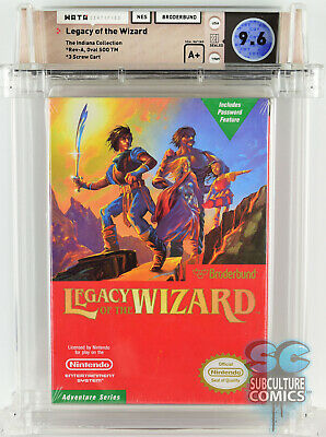 £2831.95 • Buy Nes - Legacy Of The Wizard - Factory Sealed - Wata 9.6 A+ Indiana Collection